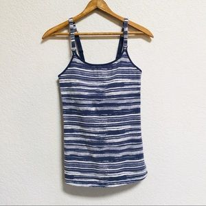 Gilligan & O'Malley Blue/White Nursing Tank